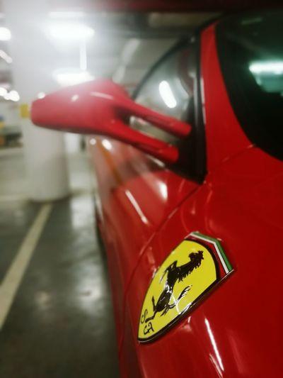 Ferrari Red Close-up No People Cars
