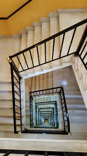 Hand Rail Spiral Staircase Stairs Spiral Stairs Steps And Staircases Spiral Steps Staircase High Angle View Railing Stairway Stepping Bannister