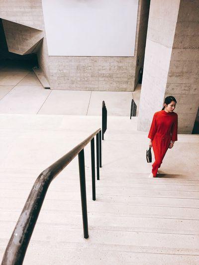 Reddress Hongkongphotography Hk HongKong Taikwun Real People Built Structure Walking Lifestyles Wall - Building Feature Staircase First Eyeem Photo