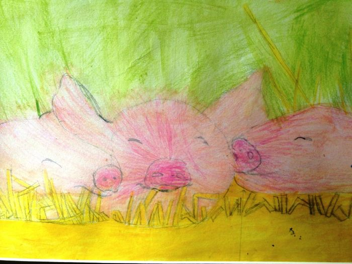 3 little piggies 3 Little Pigs Pigs Crayon Art Childrens Art Eyeem Art Eyeem Art Lover Eyeem Artist