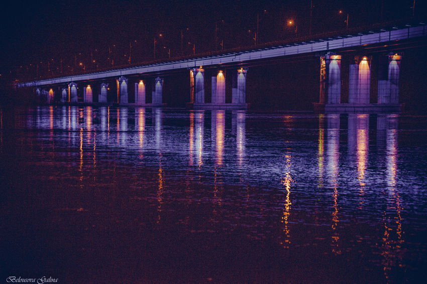 Architecture Bridge - Man Made Structure Built Structure Connection Illuminated Nature Night No People Outdoors Reflection River Sunset Transportation Water Waterfront