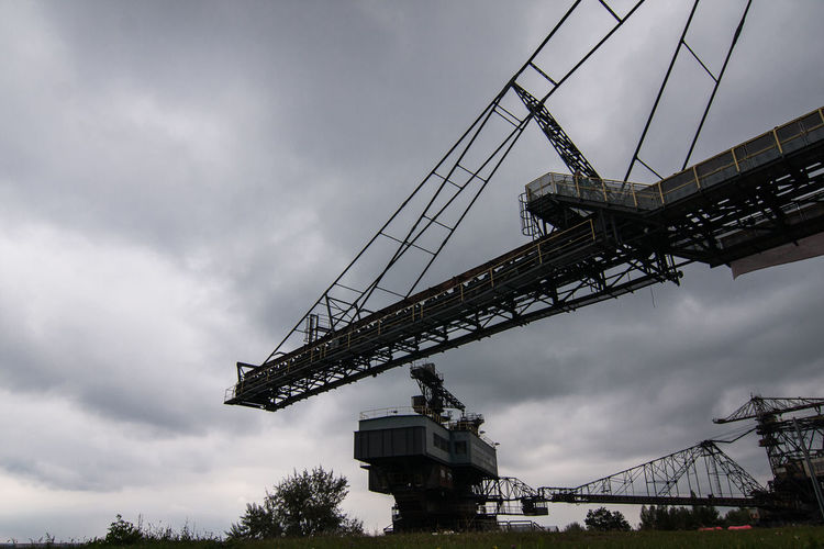 Brown Coal Mine Architecture Brown Coal Surface Mining Area Building Exterior Built Structure Cloud - Sky Day Ferropolis Low Angle View Mining Nature No People Open-cast Mining Outdoors Sky
