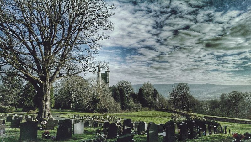 TreePorn Churchporn Old Chruch Hdr Edit Clouds And Sky Welshpool Mid Wales Wales❤ Crosses & Headstones Churchyard Welsh Countryside Churches Of Wales Landscape_photography Landscapes With WhiteWall