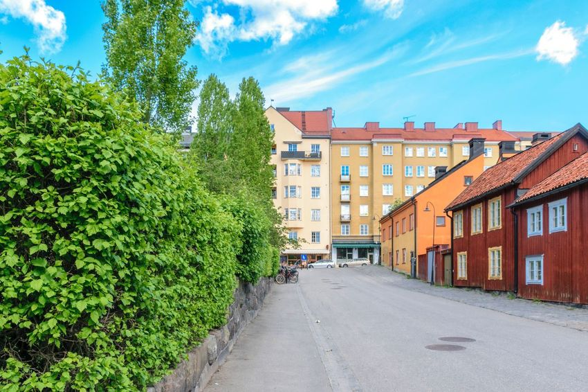 Nytorget in the Södermalm district of Stockholm, Sweden Nytorget Södermalm Söder Stockholm Sweden Södermalm Stockholm Architecture Wooden House Houses Scandinavia Nordic Countries Summer Hipster Travel Destinations