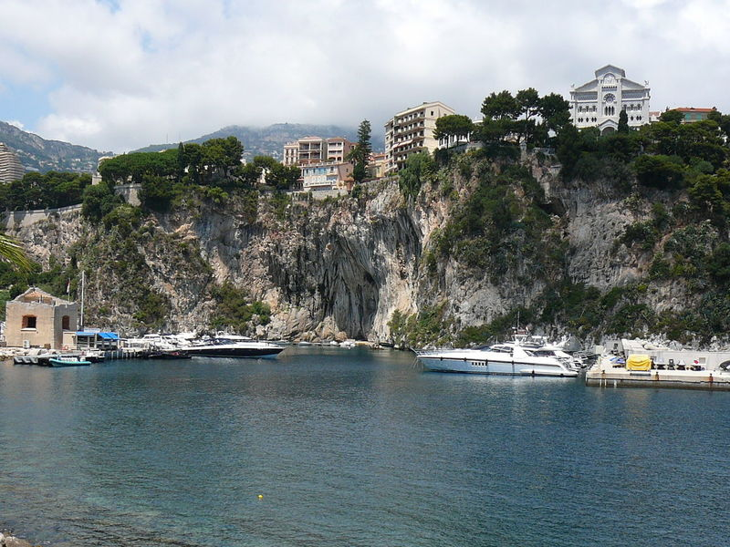 Port de Fontvieille, France Boating Cliff Coastline Fontvieille France Going Sailing Harbor Harbour Port Rock Sailing Sea Water Waterfront