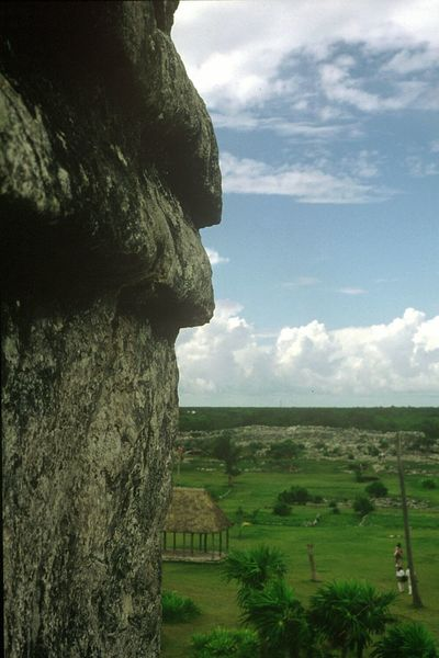 Mexico Tulum Rivera Maya Ancient Ruins Ancient Architecture Fortress Plain View Green Grass Old Holiday Photos Clouds And Sky Travel Photography This Is Latin America