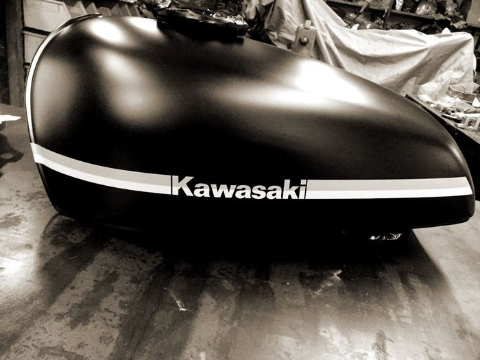 #caferacer Kawasaki Motorcycle #caferacer Silver Colored No People Black Color Close-up