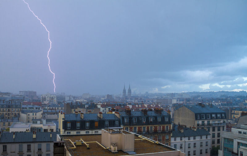thunder storm in Paris near Saint Ambroise church Architecture Blue Building Exterior City Cityscape Cloud - Sky Community Day Blue Wave Human Settlement Lightening Mountain Nature No People Outdoors Paris Residential Building Residential District Residential Structure Sky Storm Thunder Neighborhood Map TOWNSCAPE Weather