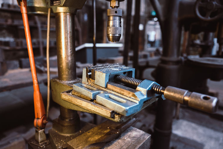 Machinery Industry Equipment Metal Manufacturing Equipment Machine Part Indoors  Factory No People Business Technology Focus On Foreground Close-up Distillery Old Selective Focus Manufacturing Industrial Equipment Metal Industry