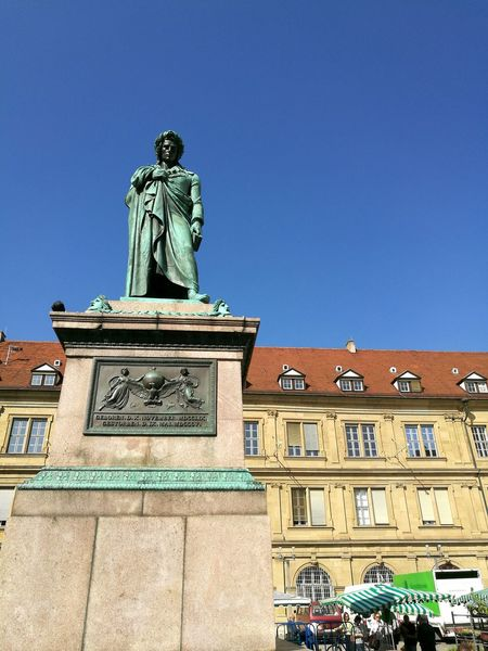 Friedrich Schiller Statue in Stuttgart. Historic History The Past Stuttgartsmartphonephotographer Stuttgart Statue Sculpture Schiller