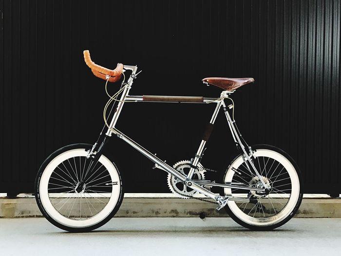今日は届いたミニベロで一緒にお出かけ! Bicycle Outdoors Minivelo Bruno Brooks Bike