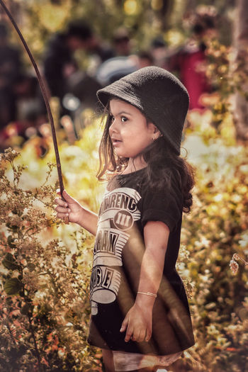 Confused 😂 EyeEm Selects A New Beginning Child Childhood Full Length Portrait Girls Tree Growing The Modern Professional