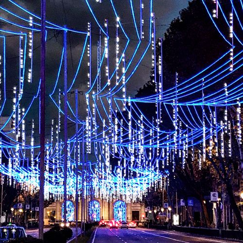 Puerta de Alcalá IPhoneography Luces Navideñas Night Illuminated Decoration Built Structure Architecture Glowing Lighting Equipment Blue City Christmas Lights Christmas Decoration Celebration No People Pattern Event Nature Building Exterior Light - Natural Phenomenon Christmas Light