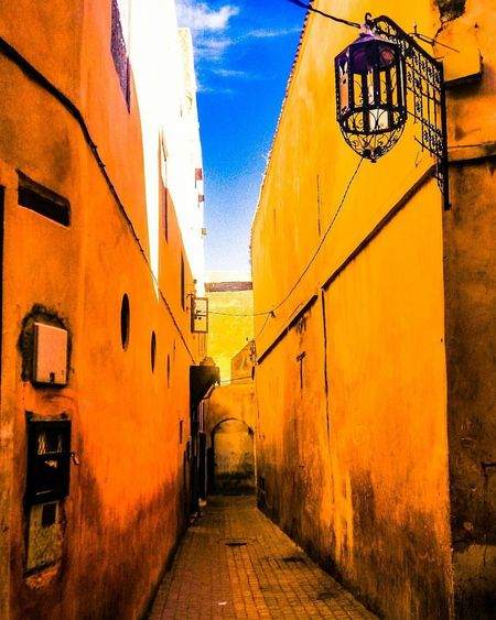 Yellow Architecture Built Structure Outdoors Day No People City Sky Morroco Meknès City Traditional Phoneography Colorful Colors Must See EyeEm Best Shots Eyemphotography Eyemphotos Eyem Best Shot - My World Neighborhood Map The Architect - 2017 EyeEm Awards