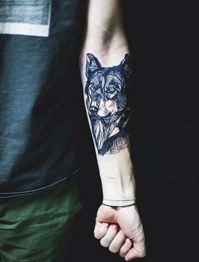 Ink Wolf Tattoo Tattooed