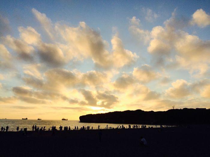 Sunset Sea Enjoying The Sun