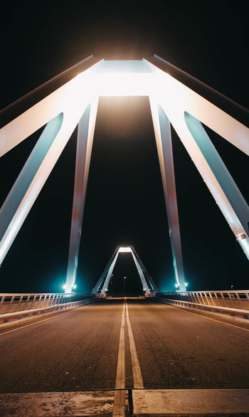 //bridge Bridge - Man Made Structure Tones Photography Night Symmetry Illuminated Light Trail Road No People Outdoors Colour Your Horizn Stories From The City Adventures In The City