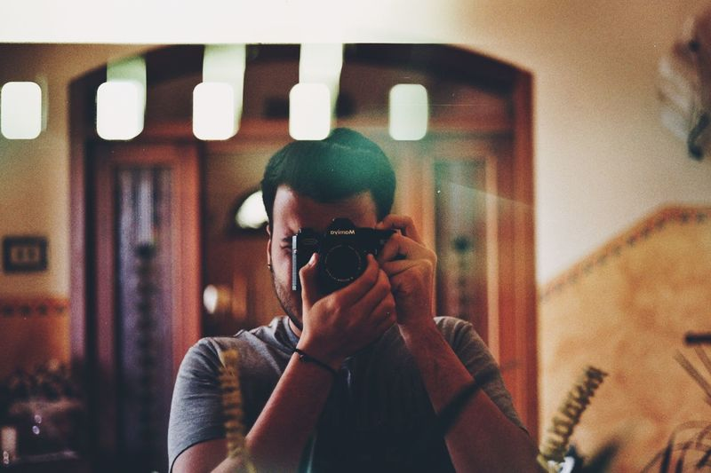 Selfie Portrait Portrait Mirror Italy Film Photography Filmisnotdead 35mm 35mm Film Imperfection Light And Shadow
