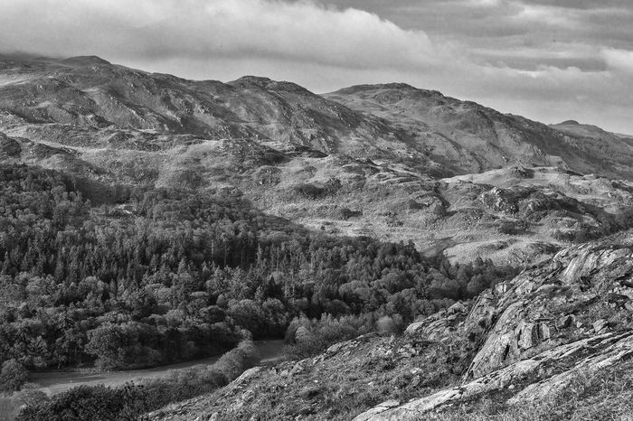 B&w Black & White Cloud Cloud - Sky Cloudy Day Forest Geology Hills Idyllic Lake District Landscape Mountain Mountain Range Nature Non-urban Scene Scenics Sky Tranquil Scene Tranquility Valley
