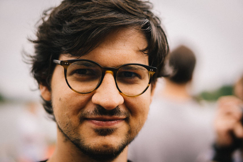 EyeEmOnABoat Portrait Glasses Eyeglasses  Headshot Focus On Foreground Close-up Looking At Camera One Person Front View Young Men Beard Happiness Men Human Face Hairstyle Team EyeEm EyeEm 2018 Eyeem Party EyeEm Team
