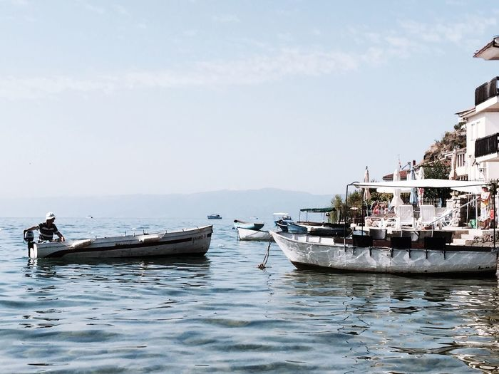 Nautical Vessel Transportation Mode Of Transport Water Boat Sea Outdoors Nature Sky Day Waterfront No People Ohrid Lake Boats Water Ohridlake