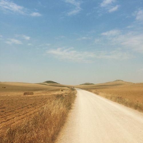 Santiago Santiago De Compostela CaminodeSantiago Sand Dune Desert Arid Climate Road Sand Sky Landscape Empty Road