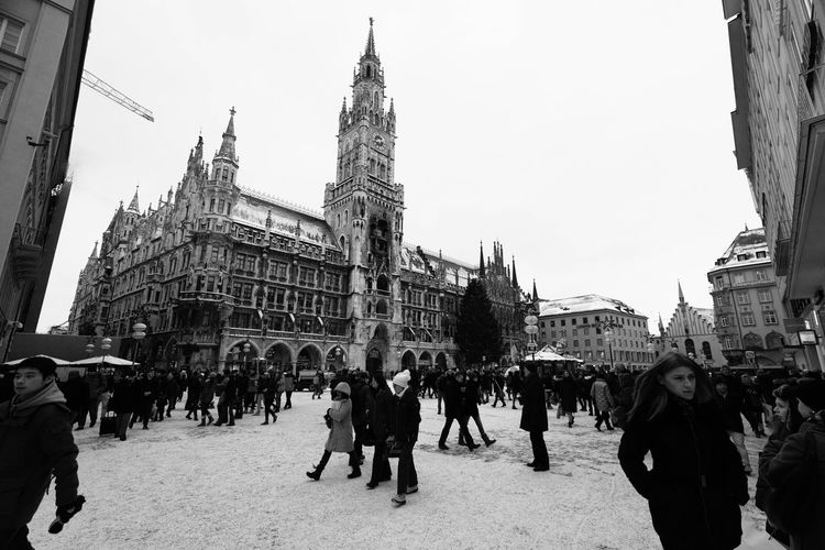 EyeEm Munich Munich München Blackandwhite Black & White Black And White Bavaria Sightseeing Snow Winter