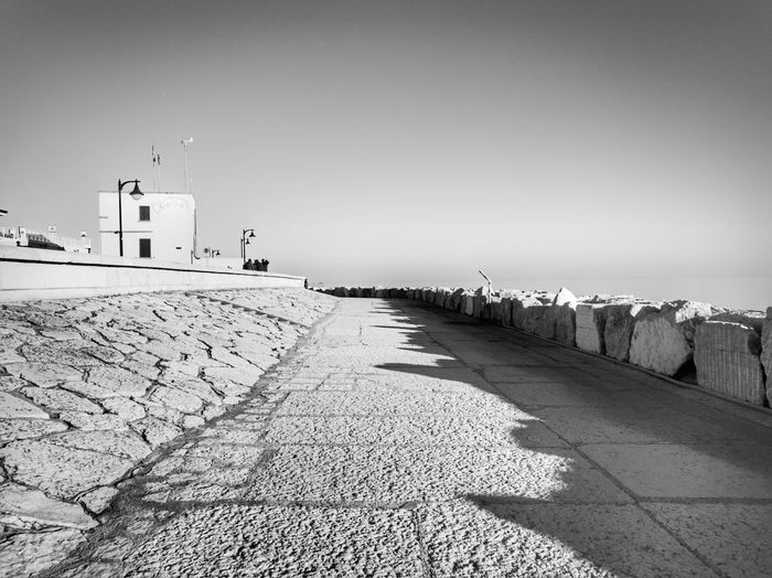 Outdoors Beach Clear Sky Sky Day Black And White 3XSPUnity Landscape Clear Sky No People City Seaside