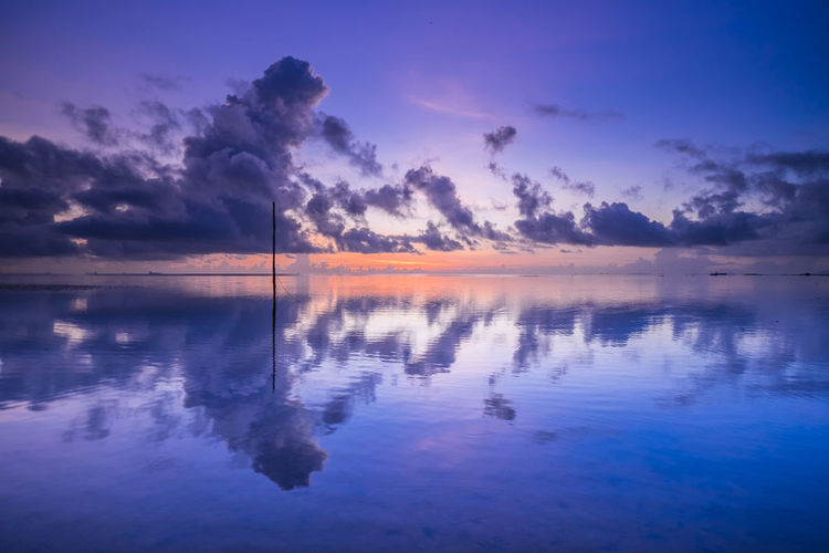 Fish Eye Beach of Batam Island Water Sky Sunset Cloud - Sky Beauty In Nature Nature Scenics - Nature Tranquil Scene Tranquility Outdoors No People The Great Outdoors - 2019 EyeEm Awards