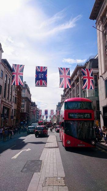 London Oxford Street  Red Bus England Capital City