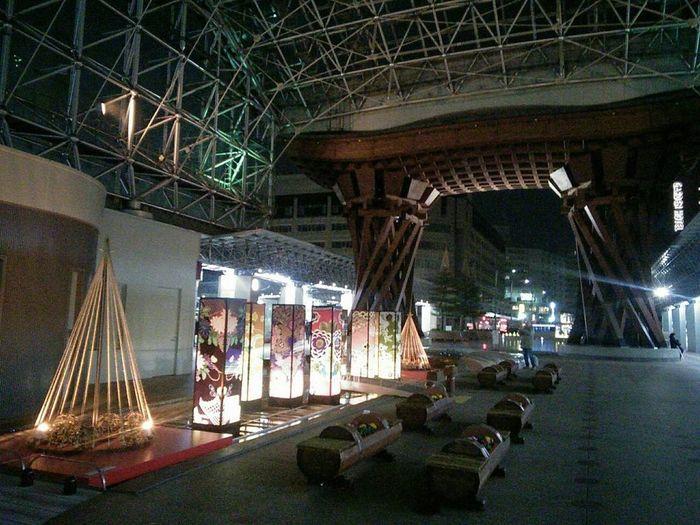 Kanazawa_japan Landscape Japan🇯🇵 Beautifulplaces Scenicview Scene Scenery 石川県 Kanazawa City,Japan Kanazawa Station Night Photography Indoors  Architecture Metal Industry People Adult Day