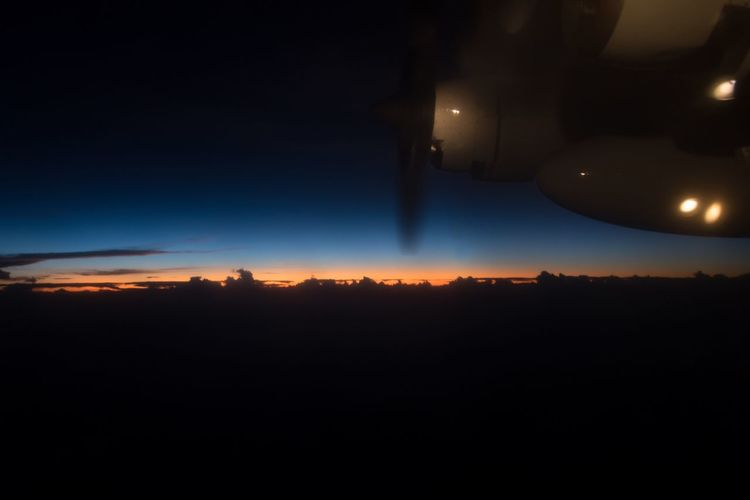 Night Illuminated Sky No People Moon Silhouette Nature Beauty In Nature Outdoors Astronomy Inflight InFlightPhoto EyeEm Selects Cloud - Sky Transportation