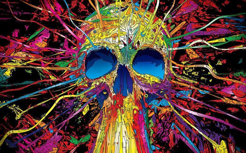 Art Skull Colors ArtWork