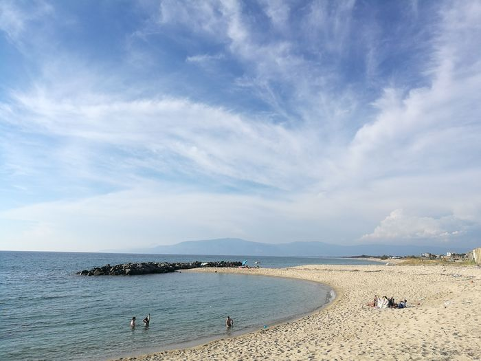 Beach Sand Horizon Over Water Sea Nature Sky Water Scenics Tranquility Beauty In Nature Summer Calabria Italy Sunset Sun Sea Season Summer Calabria South Italy Calabria (Italy) Calabriadascoprire Naturephotography Blue Nature Natural Beauty Tranquil Scene Mare ❤ Sun 🐼 Love This 💜