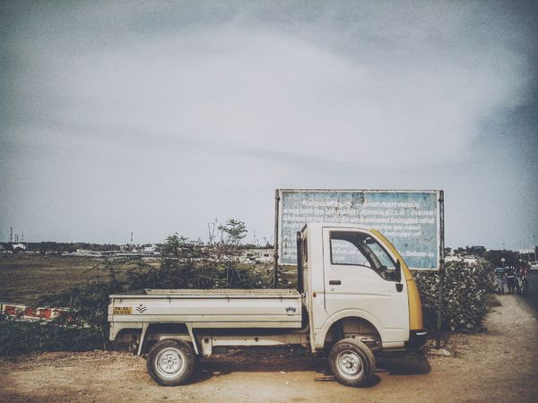 """back here in south india this vehicle is called """"Chinna Yaanai"""" simply means """"Small Elephant"""" . . its called that cause it could carry a huge amount of freight. Taking Photos EyeEm Best Shots VSCO Blue Sky"""