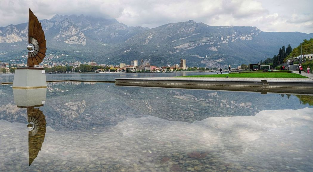 Mountain Reflection Lake Mountain Range Scenics Outdoors Water Sky Cloud - Sky Day Landscape No People Sal24f20z EyeEm Selects Sony A7rm2 Sony A7RII Zeiss Lago Di Como, Italy Lost In The Landscape