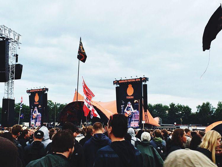 Neil Young Orange Stage Roskilde Festival Concert Crowd Stage Festival Music Music Brings Us Together