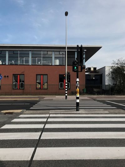 My time is coming, have faith Architecture Sign Crosswalk Symbol Street Road Marking Building Exterior Transportation Road Zebra Crossing City Crossing Stoplight Real People Day