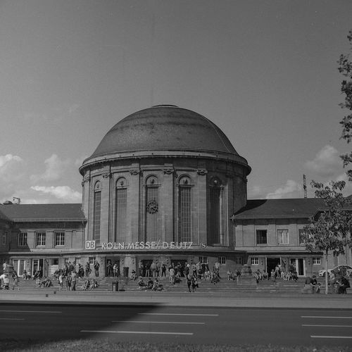 Bahnhof Architecture Built Structure Travel Destinations City Dome Building Exterior Sky No People Travel Train Station Medium Format Film Photography Black&white Outdoors