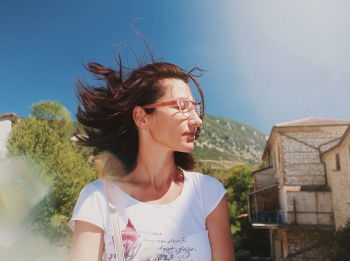 Hair in the wind 💨... VSCO Cam VSCO Details Of My Life Portrait Of A Woman Portrait Travel Happiness Mood Dreaming Windy Flare Lens Flare Lens Flare Fashion Haircolor Haircut Hairstyle Hair Wind Blowing  Wind One Person Wind Mid Adult Outdoors Day Mature Adult Real People Beautiful Woman Nature Young Women Fashion Stories The Portraitist - 2018 EyeEm Awards International Women's Day 2019