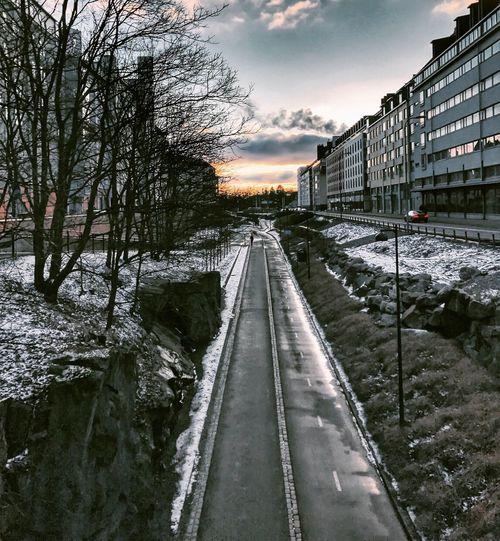 Helsinki Baana Suomi Suomi100 Kevät Spring Sunset Outdoors