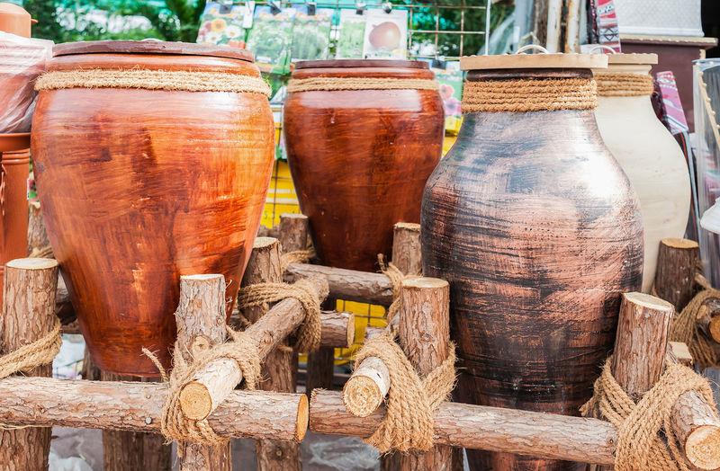 Urns for sale at market