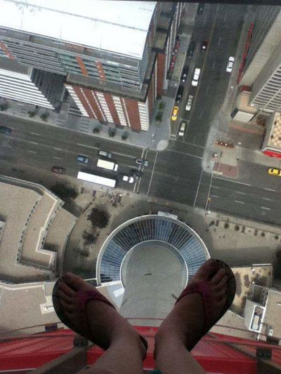 Perspective Perspective Changes Everything Long Way Down Feet Over The City Glass Floor Calgary Tower Calgary, Alberta