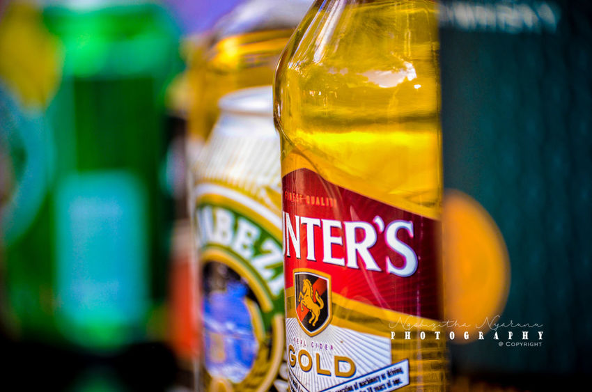 Text Multi Colored Close-up Container Bottle Label Selective Focus Glass - Material Choice Food And Drink