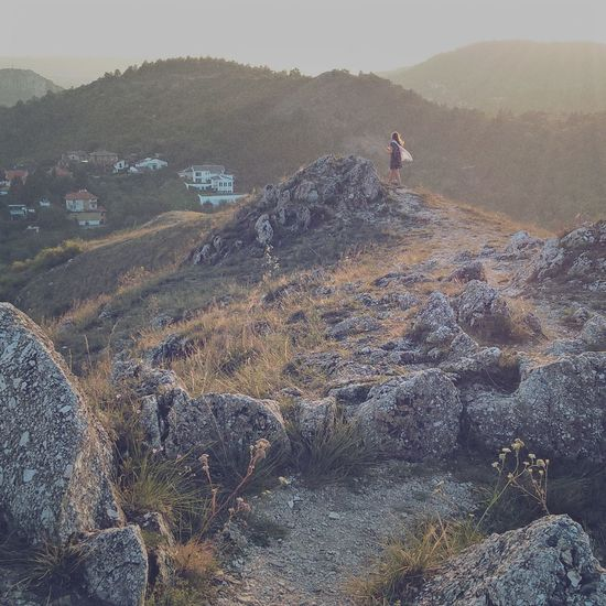 #climbing #girl #lumiaphoto #Mountains #rocks #stones #summer #sunset #sun #clouds #skylovers #sky #nature #beautifulinnature #naturalbeauty #photography #landscape Beauty In Nature Day Landscape Large Group Of People Mountain Nature Outdoors People Scenics Sky