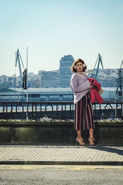 The girl from A Coruña Portrait Of A Woman Portrait Port Girl Fashion One Person Standing Real People Full Length Lifestyles Leisure Activity The Fashion Photographer - 2018 EyeEm Awards Sky Clear Sky Day Women Looking At Camera Front View Casual Clothing Young Adult Outdoors Urban Fashion Jungle