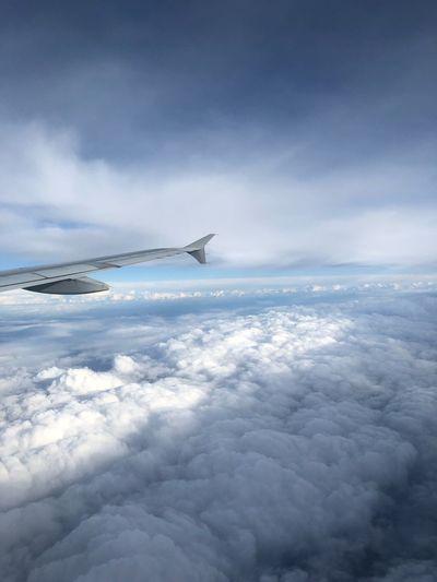 EyeEmNewHere EyeEm Nature Lover Eyeemvision Sky Cloud - Sky Airplane Air Vehicle Scenics - Nature Transportation Mode Of Transportation