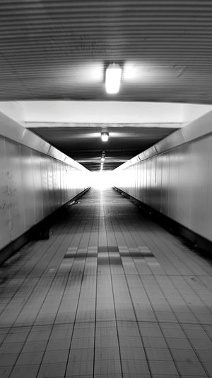 Light And Shadow Tunnel Architecture Underpass No People Illuminated Bridge - Man Made Structure Day Black And White Photography Light At The End Of The Tunnel