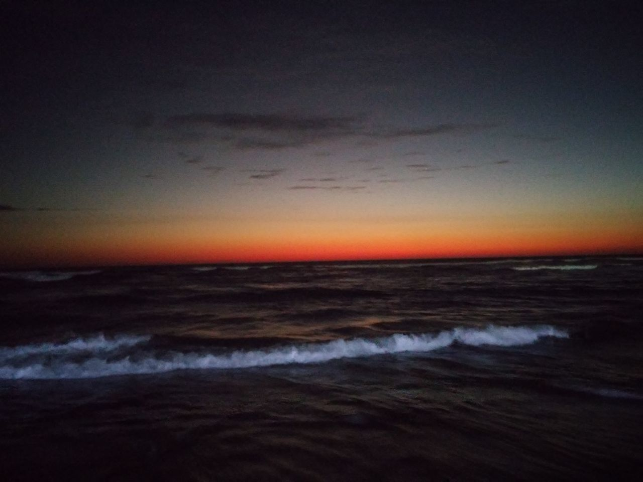sea, sunset, beauty in nature, horizon over water, nature, sky, scenics, tranquility, cloud - sky, tranquil scene, wave, dramatic sky, beach, dusk, water, no people, outdoors, silhouette, storm cloud, night, power in nature