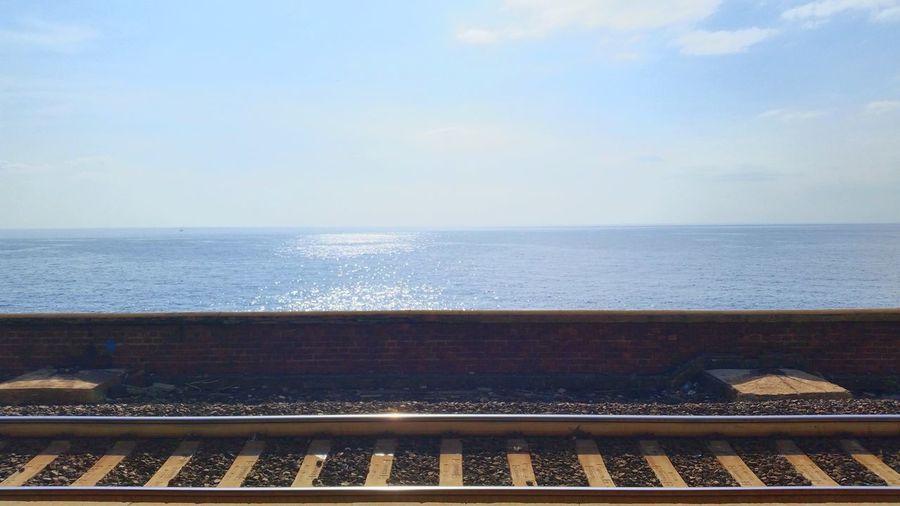 Train Station Waiting Sea Horizon Infinity The EyeEm Facebook Cover Challenge MrNobody